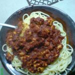 Spaghetti Bolonese bodybuilding version