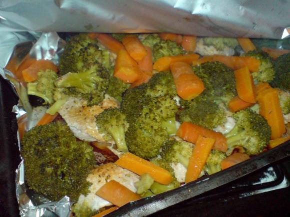 Duszony indyk z warzywami
