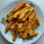 Frytki ze słodkich ziemniaków (zdrowe)