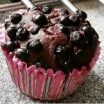 Czekoladowe muffinki z jagodami by cod123