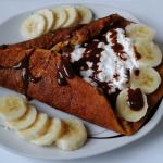 Marchewkowy omlet z bananem i serkiem wiejskim by julcziik