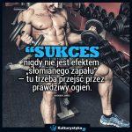 """""""Sukces nigdy nie jest efektem słomianego zapału…"""